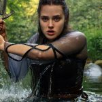 Katherine Langford takes up the magic sword in Netflix's 'Cursed' on July 17