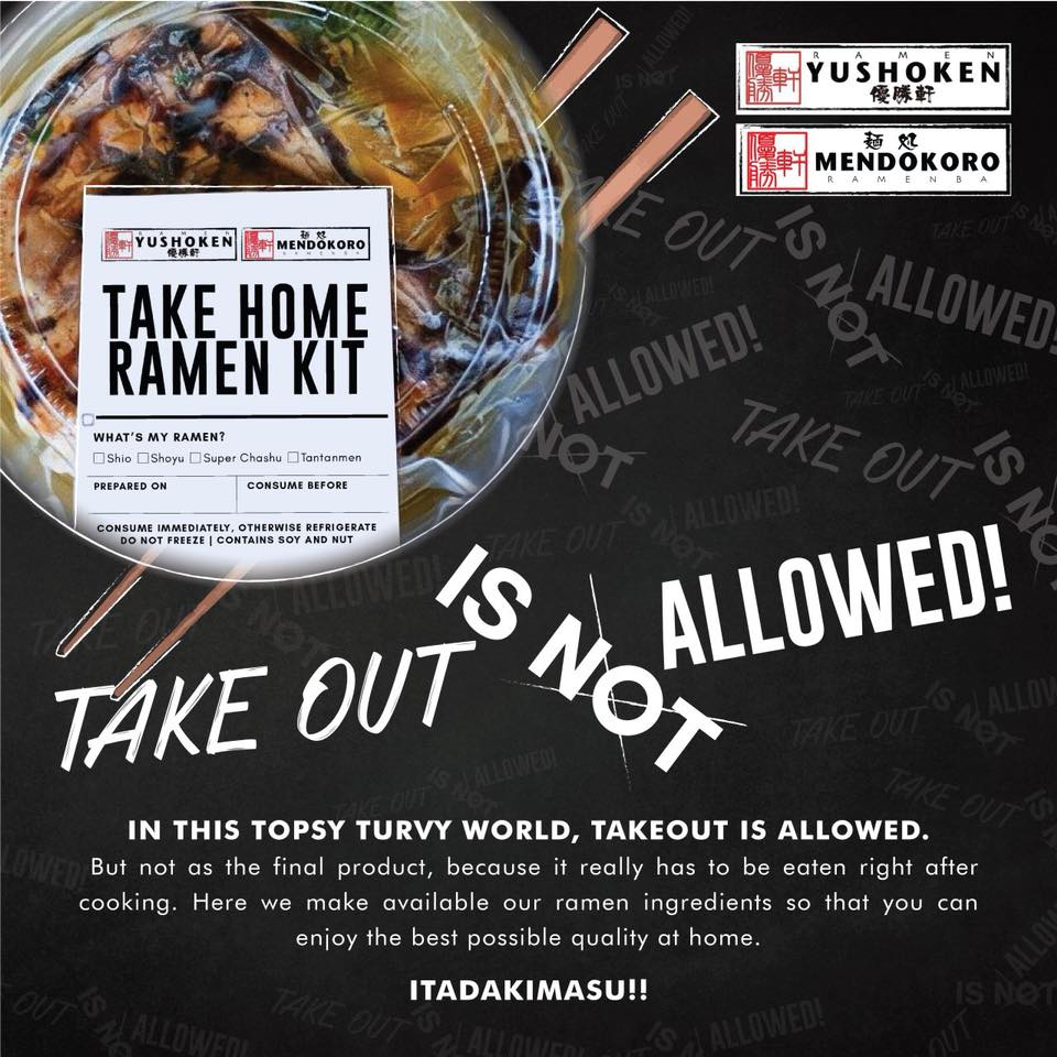 You can now buy ramen kits  from Yushoken and Mendokoro