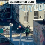 Quarantine meet-cute: photographer shows the world how to date while social distancing